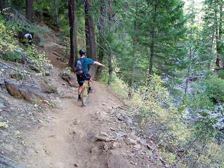 Rob Bowman on the Downieville Trail, 2003